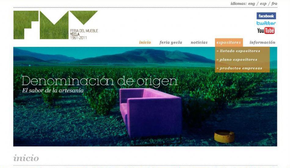 Feria del Mueble Yecla presenta su nueva página web.