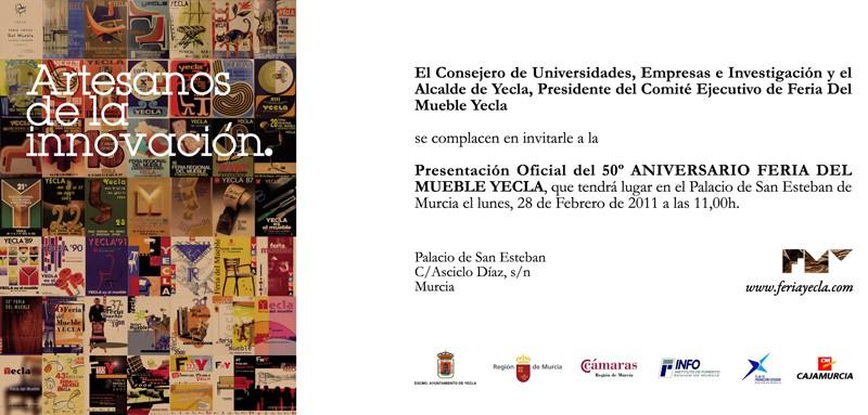 Acto presentación oficial 50º Feria del Mueble Yecla.