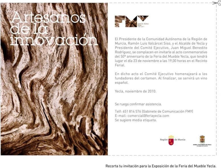 Acto inauguración exposición 50º aniversario Feria del Mueble Yecla.