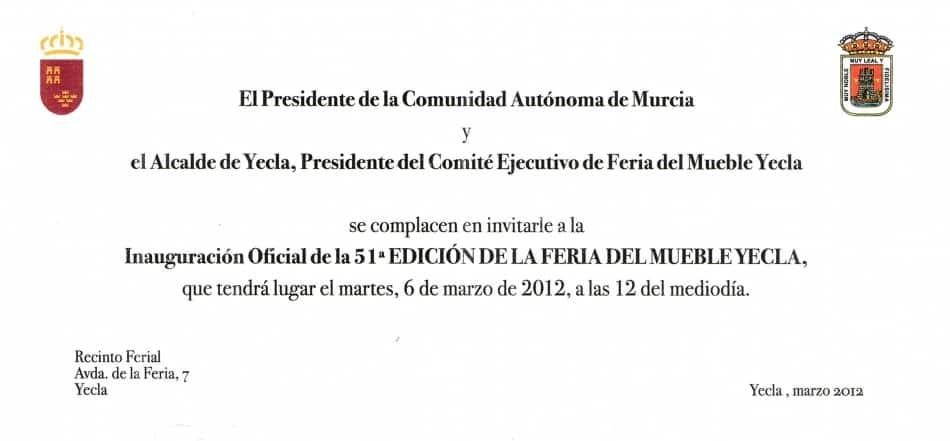 La Feria del Mueble Yecla se inaugura oficialmente el martes a las 12