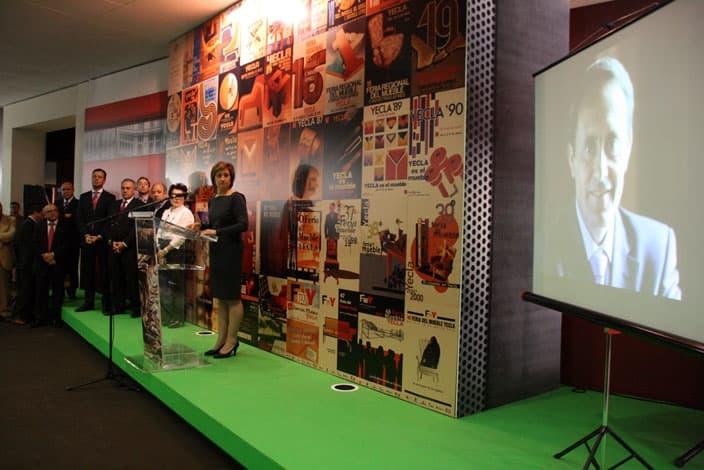 La Feria del Mueble Yecla rinde honores a Juan Miguel Benedito