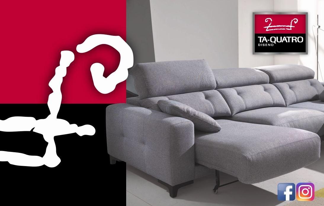 ta quatro diseño sofá cama chaise longue